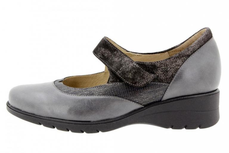 Mary-Jane Leather Grey 9957